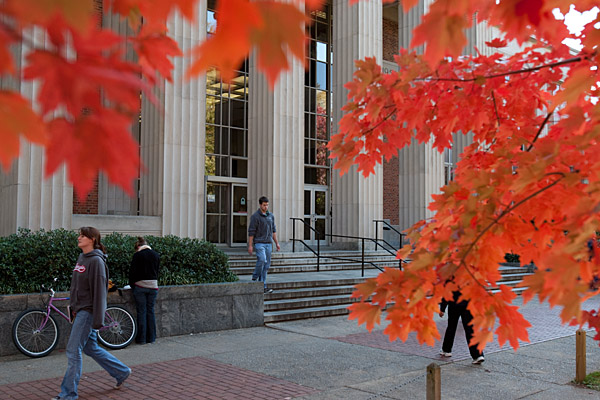UGA Main Library in fall