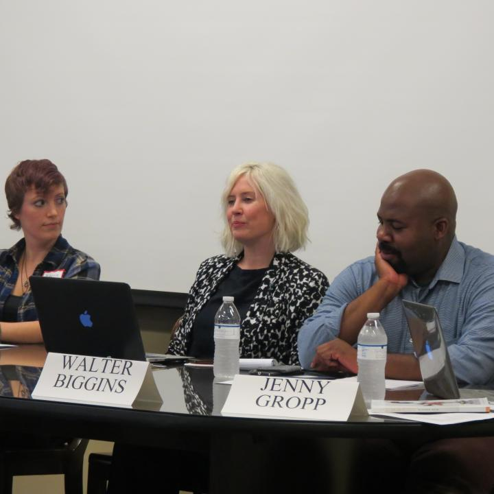 Rebecca Norton, Laura Solomon, and Walter Biggins at the UEA Careers in Publishing Panel